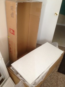 HSN Vanity with Mirror in the box