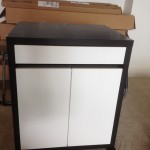 Finished Black Micke Rolling cabinet Ikea