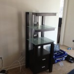 Assembly of American Signature 3 pc Crescent Entertainment unit